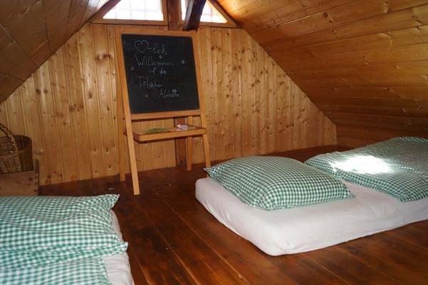 Tröbacheralm Hütte - Schlafbereich oben